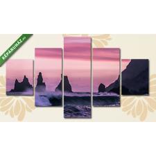 Képáruház.hu Sziklákat nyaldosó hullámok(135x70 cm, S01 Többrészes Vászonkép) grafika, keretezett kép