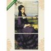Képáruház.hu Szinyei Merse Pál: Lilaruhás nő (1874)(125x60 cm, L02 Többrészes Vászonkép)