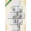 Képáruház.hu Tulipánok szürkében(135x70 cm, S01 Többrészes Vászonkép)