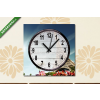 Képáruház.hu Vászonkép óra, Premium Kollekció: Eiffel Tower, Paris, France(25x25 cm, C01)
