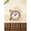 Képáruház.hu Vászonkép óra, Premium Kollekció: Elegant vector card with flowers and cute ladybug(25x25 cm, C01)