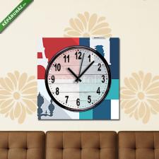 Képáruház.hu Vászonkép óra, Premium Kollekció: Paris design, vector illustration.(25x25 cm, C01) grafika, keretezett kép