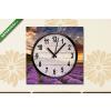 Képáruház.hu Vászonkép óra, Premium Kollekció: Stunning landscape with lavender field at sunrise(25x25 cm, C01)