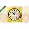 Képáruház.hu Vászonkép óra, Premium Kollekció: Sunflowers on blurred sunny background(25x25 cm, C01)