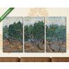 Képáruház.hu Vincent Van Gogh: Olajfa liget(125x70 cm, L01 Többrészes Vászonkép)
