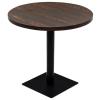 kerek, sötét hamuszínű MDF/acél bisztró asztal 80 x 75 cm