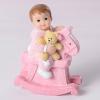 Keresztelői baba - Kislány hintalóval