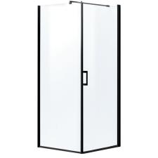 Kerra Lagos szögletes zuhanykabin tálca nélkül, 89x89x190cm - fekete profil, víztiszta üveg fürdőszoba kiegészítő