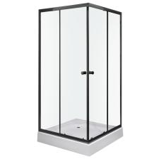 Kerra Olga SQ Black szögletes zuhanykabin tálcával fürdőszoba kiegészítő