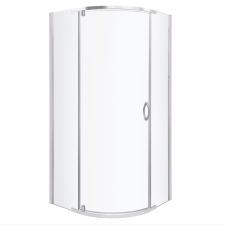 Kerra Splash íves zuhanykabin tálcával 89x89x206cm - króm profil, víztiszta üveg fürdőszoba kiegészítő