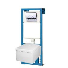 Kerra THOR16-SET falba építhető WC tartály szettben THOR 16 wc-vel fürdőkellék