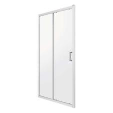 Kerra ZOOMD140ML zuhanyajtó, 140x190, tejfehér csíkos üveg fürdőkellék