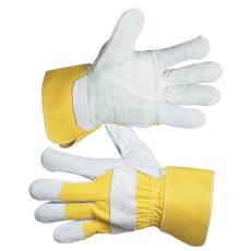 Kesztyű munkához, Eider, HS-01-002, 10-es, marhahasíték, sárga (Kesztyű)