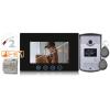 kétvezetékes, egylakásos HD video kaputelefon, 7 inch LCD monitor, kártyás HD kültérivel, DIN sines táppal