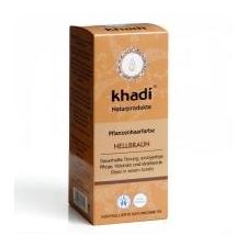 Khadi Növényi hajfesték por - Világosbarna 100 g hajfesték, színező