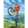 Kifestő készlet akrilfestékkel, ecsettel, gyerekeknek 8 éves kortól - 20x25 cm - Motocross