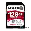Kingston 128GB SD Canvas React (SDXC Class 10 UHS-I U3) (SDR/128GB) memória kártya