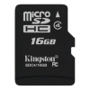 Kingston 16GB MicroSDHC Class 4 (SDC4/16GBSP) memóriakártya