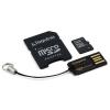 Kingston 32GB microSDHC UHS-I CL4 memóriakártya + USB2.0 olvasó + Adapter