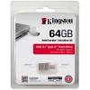 Kingston 64GB Data Traveler MicroDuo 3C USB3.1 + USB Type-C pendrive átlátszó