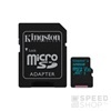 Kingston Canvas Go microSDHC 128GB (Class 10), UHS-I memóriakártya adapterrel (SDCG2/128GB)
