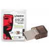 Kingston DTDUO/64GB USB 2.0 microDuo pendrive - OTG - 64GB - barna
