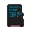 Kingston MICRO SD Kingston 64GB Canvas Go! UHS-I U3 CL10 adapter nélkül (SDCG2/64GBSP)
