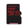 Kingston MICRO SD Kingston 64GB Canvas React UHS-I U3 V30 A1 (SDCR/64GBSP)