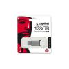 """Kingston Pendrive, 128GB, USB 3.1,  """"DT50"""", ezüst-fekete"""