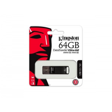 "Kingston Pendrive, 64GB, USB 3.1, 180/70MB/s, vízálló, KINGSTON ""DataTraveler Elite G2"", fekete pendrive"