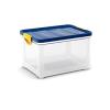 Kis-Kis Clipper Box L átlátszó kék fedelű 33 literes