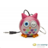 Kitsound KitSound Mini Buddy hordozható hangszóró bagoly rózsaszín /KWKSNMBOWL/