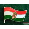 Kitűző - Magyar címeres zászló 21 mm