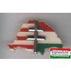 Kitűző - NagyMagyarország, osztott, kettős kereszttel