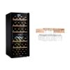 Klarstein Barossa 102 Duo, borhűtő készlet, 2 zóna, 102 palack, polc borospoharakra