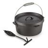 Klarstein Hotrod 85 öntöttvas fazék, barbecue fazék, 9 qt / 8,5 liter, öntöttvas, fekete