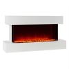 Klarstein Klarstein Studio-2, fehér, elektromos kandalló, lángok LED-es szimulációja, 1000/2000 W, 40 m²