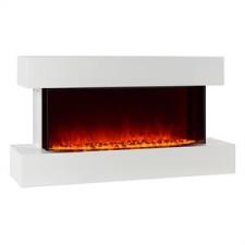 Klarstein Klarstein Studio-2, fehér, elektromos kandalló, lángok LED-es szimulációja, 1000/2000 W, 40 m² kályha, kandalló