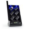 Klarstein Klingenthal mozgó óraállvány, jobbra-balra forgás, 12 óra, LED, érintésvezérelt, fekete