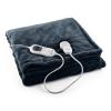 Klarstein Moriarty melegítő takaró, 120W, mosható, 180x130cm, mikroplüss, kék/szürke