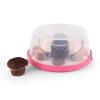 Klarstein Pinkkäppchen, rózsaszín, tortabúra, süteményes doboz, Ø26 cm