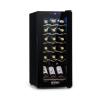 Klarstein Shiraz 18 Slim Uno, borhűtő, 50 l, 18 palack, érintőképernyő, 138 W, 5-18 ° C, fekete