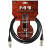 Klotz mikrofonkábel, 0,3 m Klotz XLR3M-XLR3F csatlakozók+MY206 fekete kábel