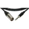 Klotz XLR-JACK kábel, 1 m – Klotz XLR3M - JACK3 csatlakozók + MY 206 fekete kábel