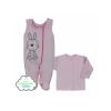 KOALA 2-részes baba BIO együttes Koala Bunny rózsaszín