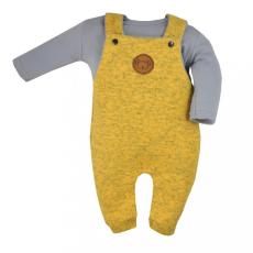 KOALA 2-részes baba együttes Koala Koala melír sárga