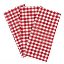 Kocka konyharuha, piros, 50 x 70 cm, 3 db-os szett lakástextília