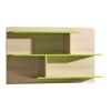 Kombinált polc, kőrisfa/zöld, EGO L8