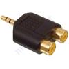 Kőnig-HQ 3.5mm stereo dugó - 2*RCA aljzat adapter, aranyozott AC-010GOLD