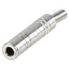 Kőnig-HQ 6,35mm-es sztereo fém aljzat - szerelhető, törésgátlóval JC-112